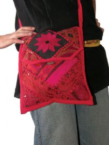 Hippy Bag~Large Ethnic Patchwork Embroidered Passport Bag~Fair trade by Folio Gothic Hippy 9110
